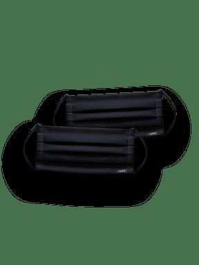 Kit 2 MÁscaras De ProteÇÃo 100% AlgodÃo LavÁvel E ReutilizÁvel Preto