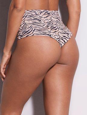 BiquÍni Hot Pants Dupla Face Harimau Estampa Harimau Tigre