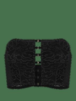 Sutiã Mini Corselet Em Renda Preto