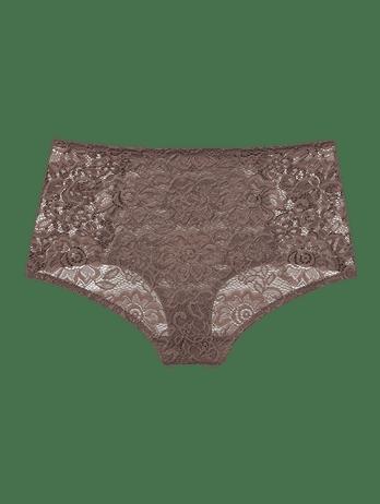 Calcinha Hot Pants De Renda E Laise Brigitte
