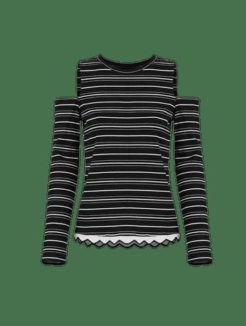 Pijama Longo Off Shoulder Cotelê Cotele Pb