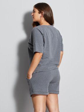 Pijama Short Doll Holistic Mescla Chumbo