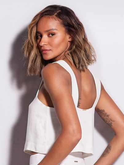 Top Cropped Off White