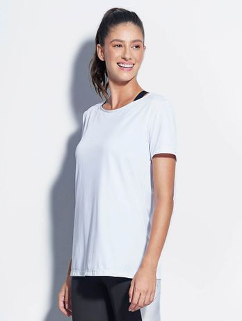 T-shirt Abertura Costas Branco