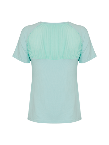 T-shirt Costas Plissado Verde Mint