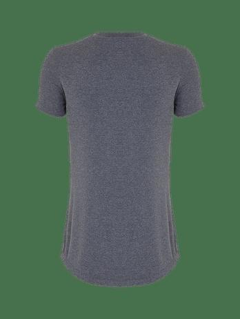 T-shirt Gola V Fraldada Cinza Mescla