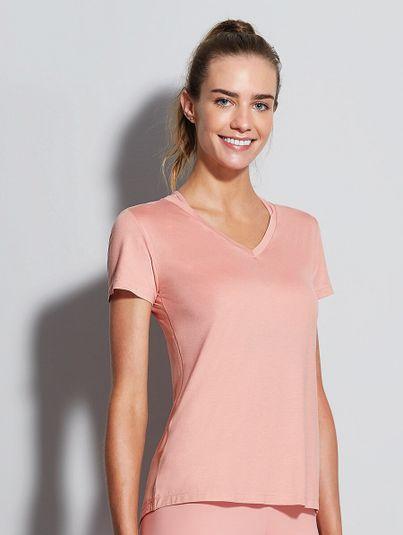 T-shirt Gola V Fraldada Rosa Cerejeira