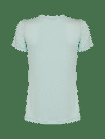 T-shirt Manga Curta Básica Verde Mint
