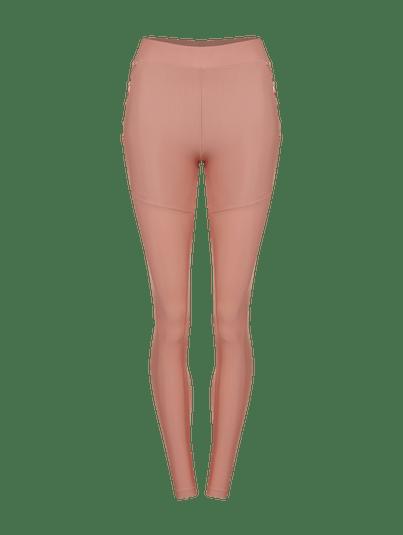 Calça Legging Amarração Rosa Quartzo