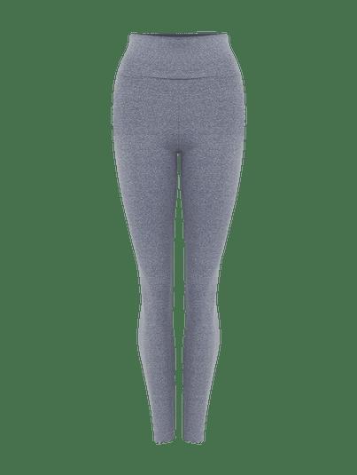 Calça Legging Básica Cinza Mescla