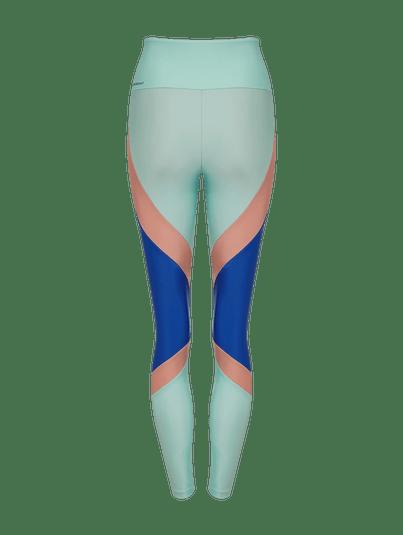 Calça Legging Recortes Azul Espectral