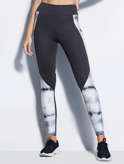 Calça Legging Recortes Marmorizado Estampa Marmorizado