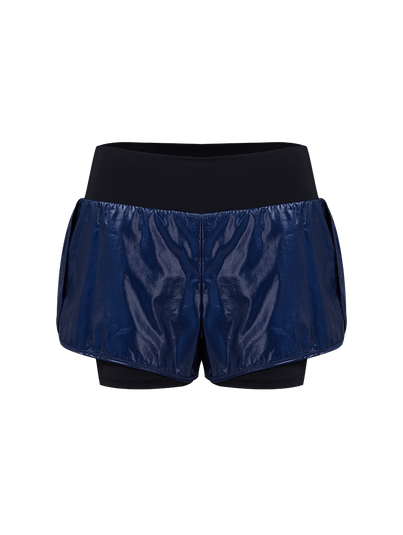 Shorts Runner Cós Alto Indigo