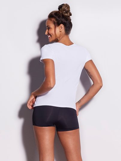 T-shirt Manga Curta Branco