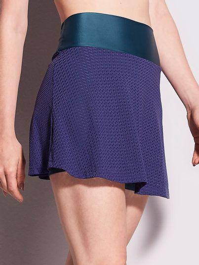 Saia Shorts Tela Azul Marinho