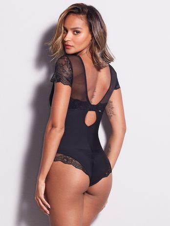 Body Modelador Com Renda Lovely Shape / Infinity Preto