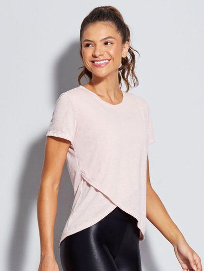 T-shirt Cruzada Rosa Lotus Mescla