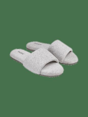 Chinelo Pantufa Soft Cinza Mescla Claro