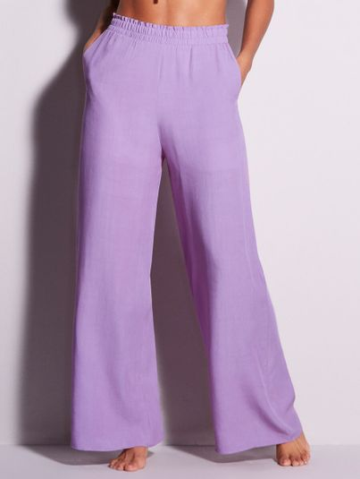 Calça Pantalona Lilas Lavinia