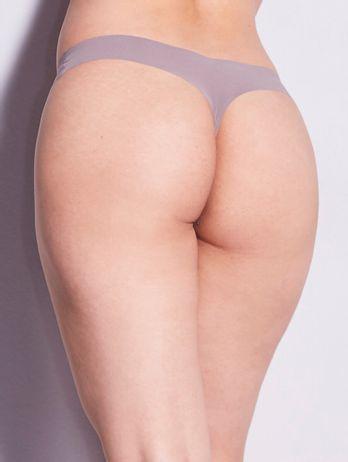 Calcinha Fio Dental Em Microfibra Nude Marrom Avela