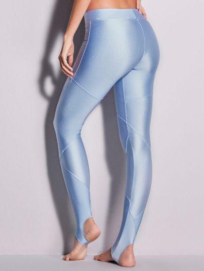 Calça Legging Com Pézinho Azul Nubla