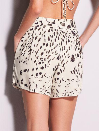 Shorts Clochard Saara Estampa Saara Off White